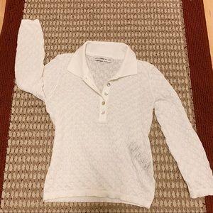 ZARA knit white collared sweater